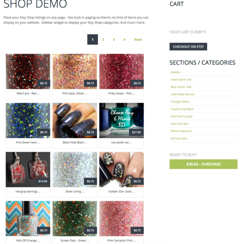 Etsy360 WordPress Shop Showcase
